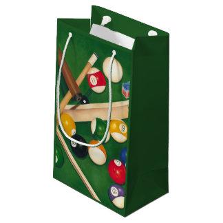 Lifelike Billiards Table with Balls and Chalk Small Gift Bag
