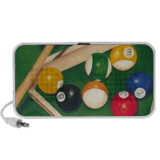 Lifelike Billiards Table with Balls and Chalk iPhone Speaker