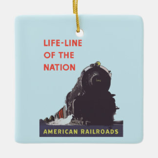 Lifeline Of The Nation 1941 Ceramic Ornament