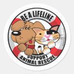Lifeline : Support Amimal Rescue Round Sticker