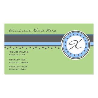 Lifelong Monogram Business Card