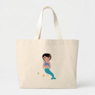 Lifen el bolso de la playa de la sirena bolsas de mano