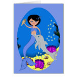 Lifen the Mermaid and Dolphin Card