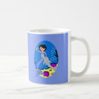 Lifen the Mermaid and Dolphin Mug