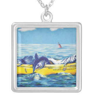 Liferaft Silver Plated Necklace