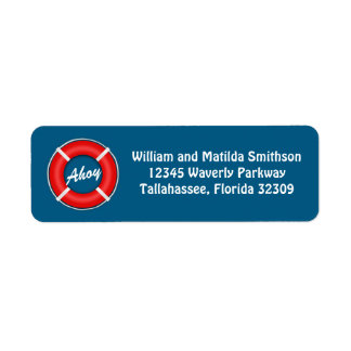 Lifering Ahoy Custom Return Address Label