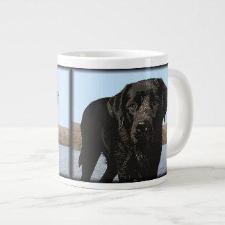 Life's a Beach - Black Labrador Giant Coffee Mug
