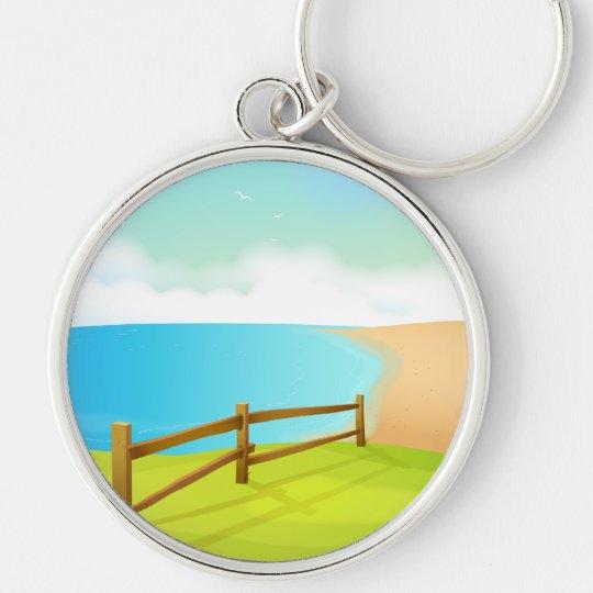 Lifes a Beach Keychain