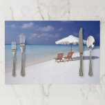 """Life&#39;s a Beach Paper Placemat<br><div class=""""desc"""">Life&#39;s a Beach tear-off place mats is a gentle outdoor image suitable for summer dining,  beach parties and barbecues.</div>"""