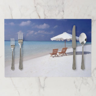 Life's A Beach Paper Placemat at Zazzle