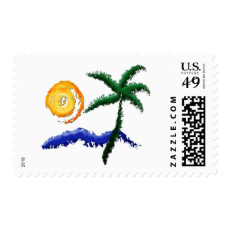 Life's a Beach Postage Stamps