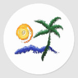 Life's a Beach Round Stickers