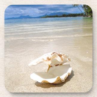 Life's a Beach Seashell Ocean Tahiti 232 Beverage Coaster