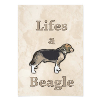 Life's a Beagle Personalised Invites
