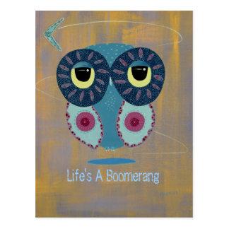 Life's A Boomerang Postcard