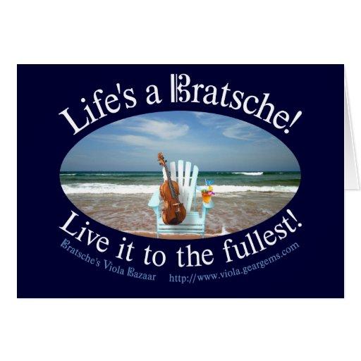 Life's a Bratsche Card