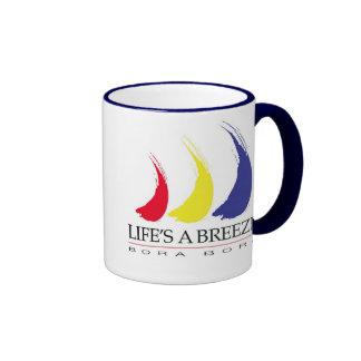 Life's a Breeze™_Paint-The-Wind_Bora Bora Ringer Coffee Mug