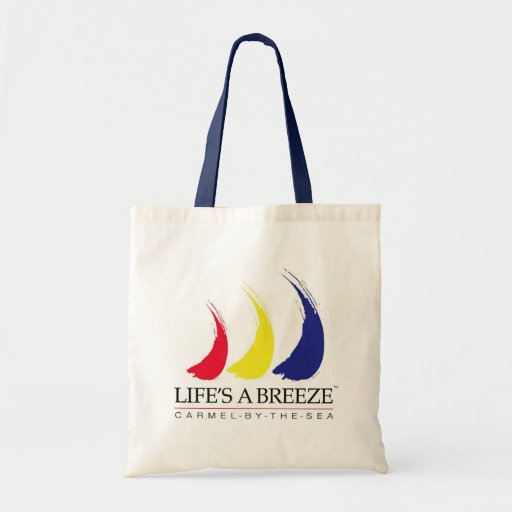 Life's a Breeze™_Paint-The-Wind_Carmel-by-The-Sea Budget Tote Bag