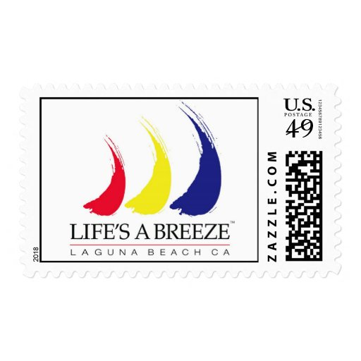 Life's a Breeze™_Paint-The-Wind_Laguna Beach Postage Stamps