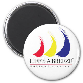 Life's a Breeze™_Paint-The-Wind_Martha's Vineyard 2 Inch Round Magnet