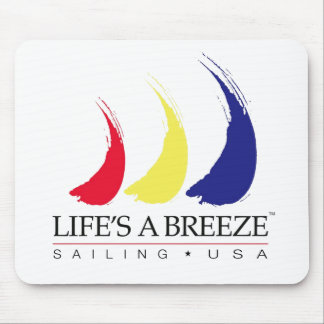 Life's a Breeze®_Paint-The-Wind_Sailing USA Mouse Pad