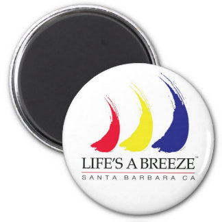 Life's a Breeze™_Paint-The-Wind_Santa Barbara 2 Inch Round Magnet