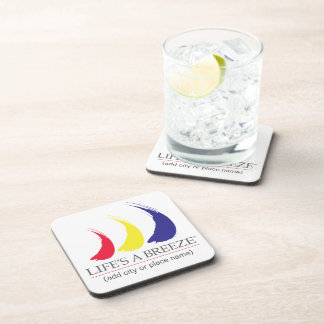 Life's a Breeze®_Paint-The-Wind Splashy Sails Beverage Coaster