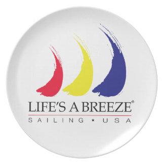 Life's a Breeze®_Paint-The-Wind Splashy Sails Melamine Plate