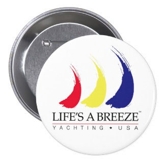 Life's a Breeze®_Paint-The-Wind_Yachting USA Pinback Button