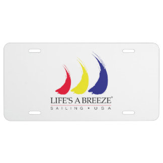 Life's a Breeze®_Sailing USA_Paint The Wind License Plate