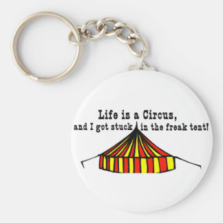 Life's a Circus Basic Round Button Keychain