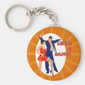 Life's A Dance Basic Round Button Keychain