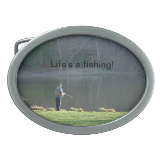 Life's a Fishing Belt Buckle