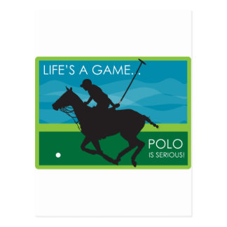 Life's a Game Polo is SERIOUS Postcard