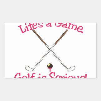 Lifes a Game Rectangular Sticker