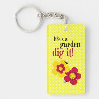 Life's A Garden Keychain