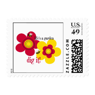 Life's A Garden Postage Stamp