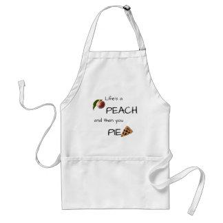 Life's a peach adult apron