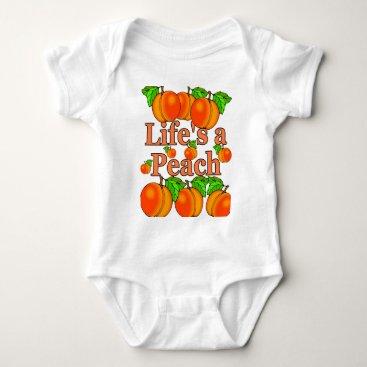 Beach Themed Life's a Peach Baby Bodysuit