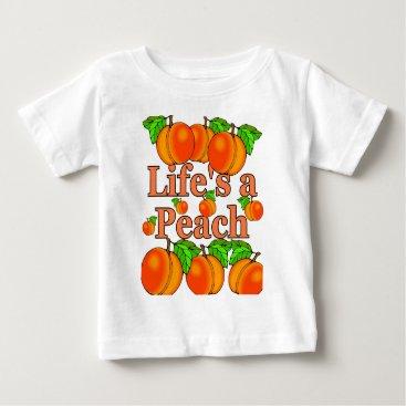 Beach Themed Life's a Peach Baby T-Shirt