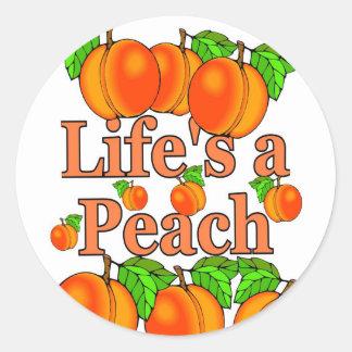 Life's a Peach Classic Round Sticker