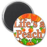 Life's a Peach Fridge Magnets