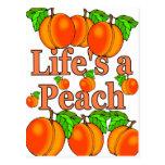Life's a Peach Post Card