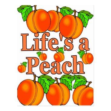 Beach Themed Life's a Peach Postcard