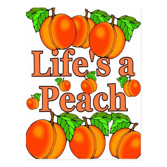 Life's a Peach Postcard
