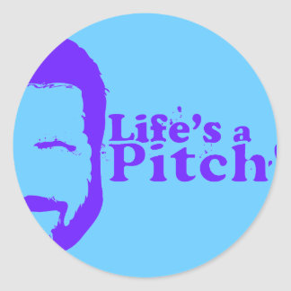 Lifes a Pitch! Classic Round Sticker