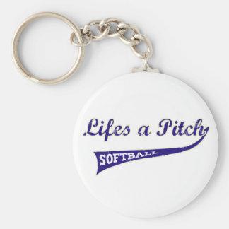 Lifes a Pitch! Keychain