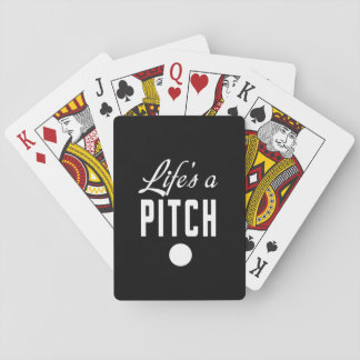 Life's a Pitch Playing Cards