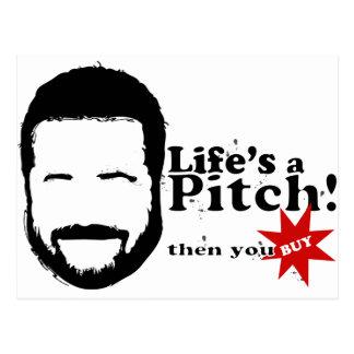 Lifes a Pitch! Postcard