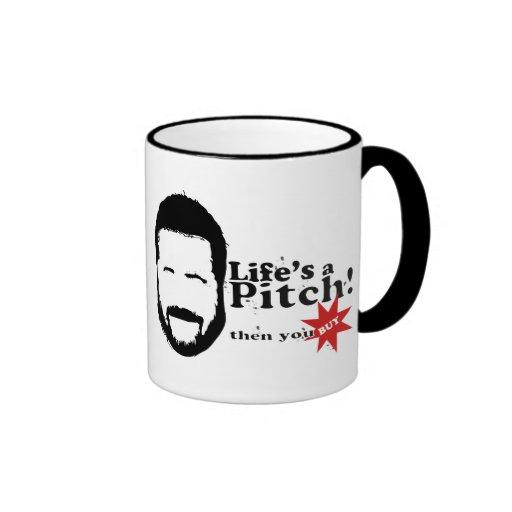 Lifes a Pitch! Ringer Mug